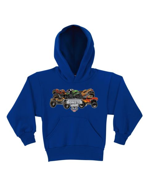 Monster Jam Pile-Up Royal Blue Youth Hoodie