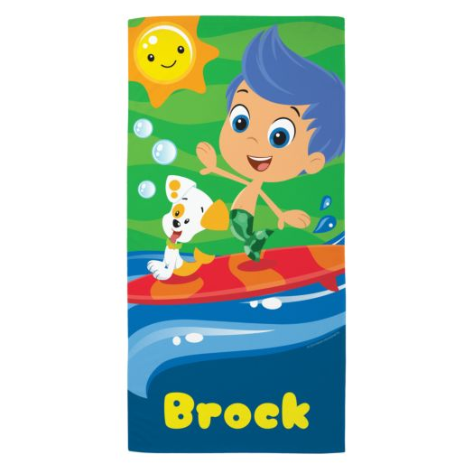 Bubble Guppies Surfing Gil Microfiber Beach Towel