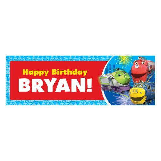 Chuggington Happy Birthday Banner