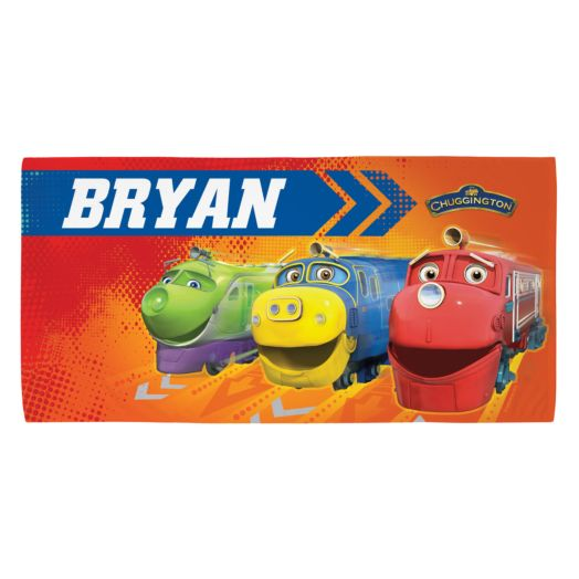 Chuggington Trainee Tracks Microfiber Beach Towel