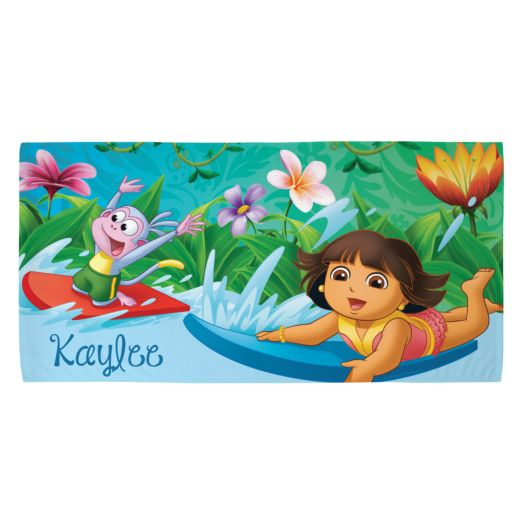 Dora the Explorer Surfing Adventure Microfiber Beach Towel