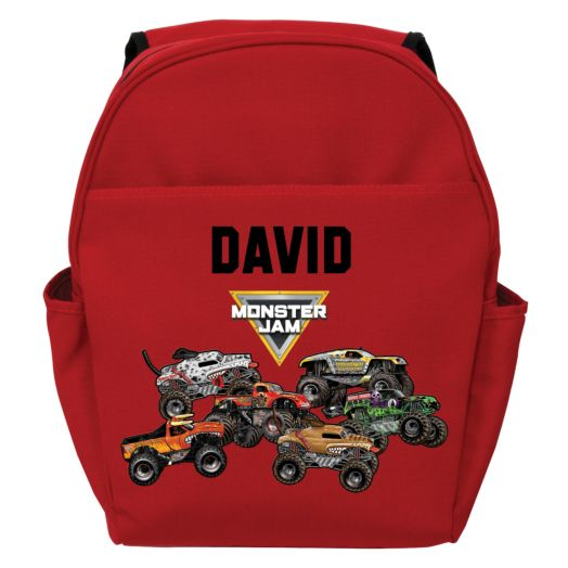 Monster Jam Freestyle Red Toddler Backpack