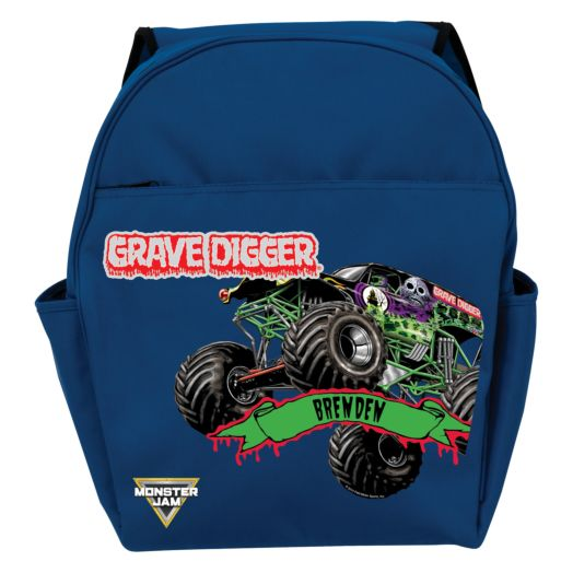 Monster Jam Grave Digger Blue Toddler Backpack