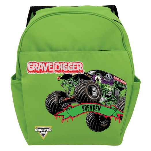 Monster Jam Grave Digger Green Toddler Backpack