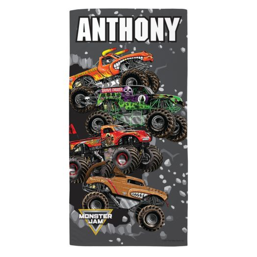 Monster Jam Breakin' Through Microfiber Beach Towel