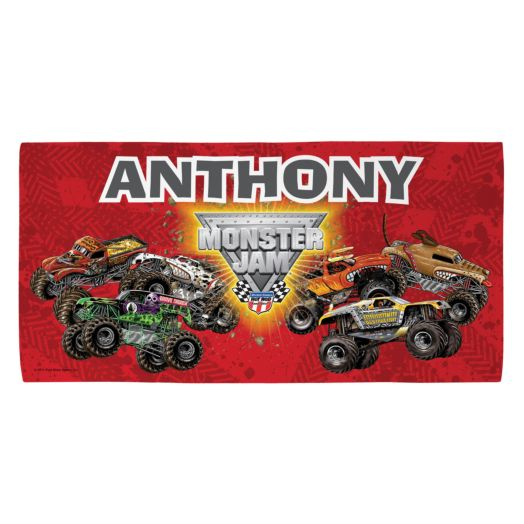 Monster Jam Madness Microfiber Beach Towel