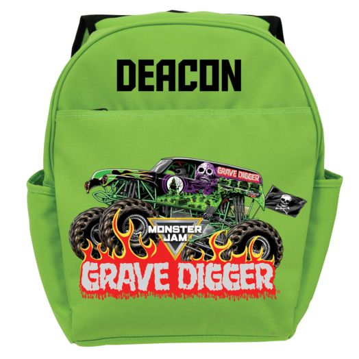 Monster Jam Grave Digger Green Youth Backpack