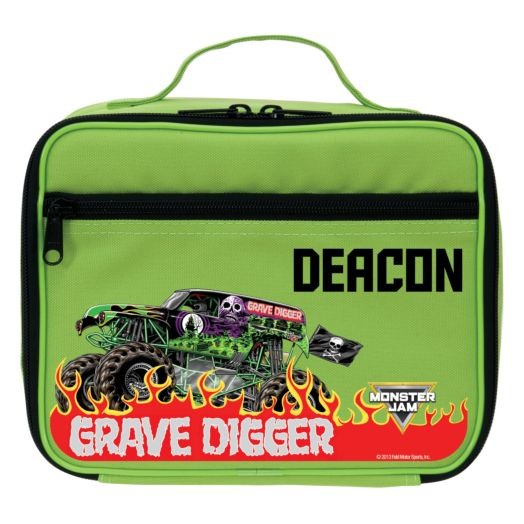 Monster Jam Grave Digger Green Lunch Bag