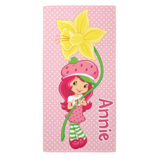 Strawberry Shortcake Perfect Petal Pose Microfiber Beach Towel