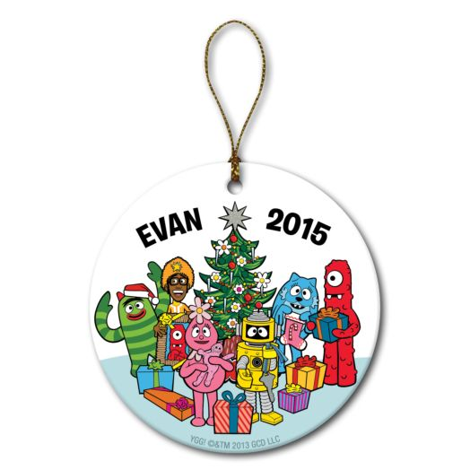 Yo Gabba Gabba! Holiday Friends Circle Ornament