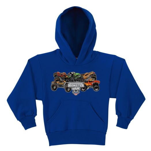 1500_Monster Jam Pile-Up Royal Blue Youth Hoodie