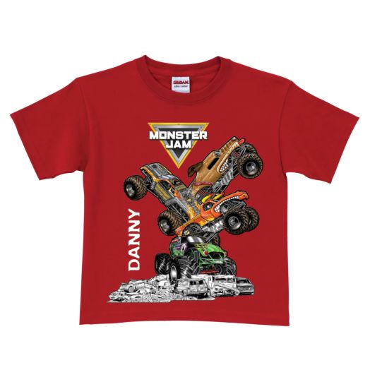 Monster Jam Stack-Up Red T-Shirt