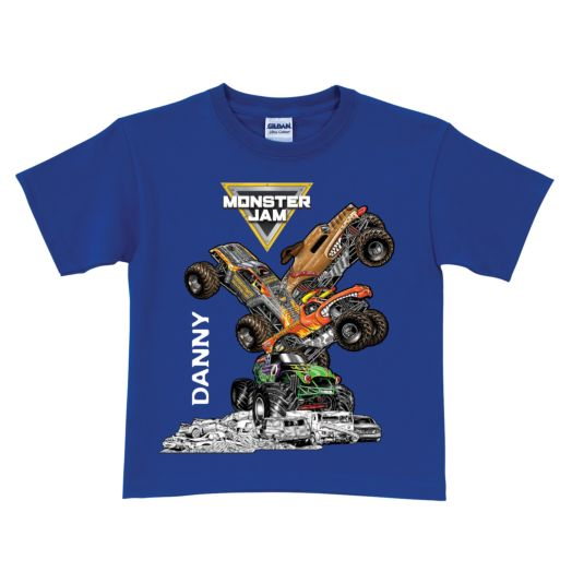 Monster Jam Stack-Up Royal Blue T-Shirt