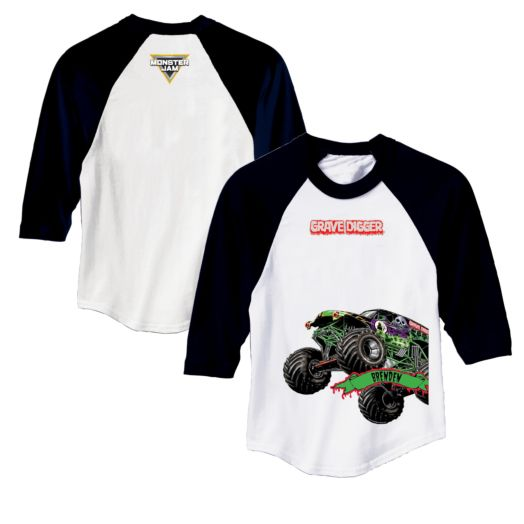 Monster Jam Grave Digger Black Sports Jersey