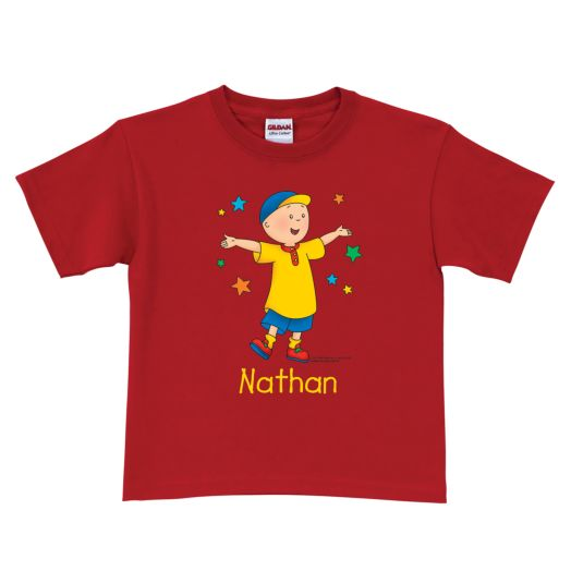 Caillou Stars Red T-Shirt
