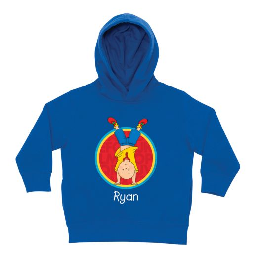 Caillou Handstand Royal Blue Toddler Hoodie