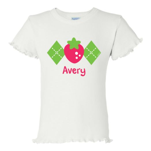 Strawberry Shortcake Berry Stylish White Ruffle T-Shirt