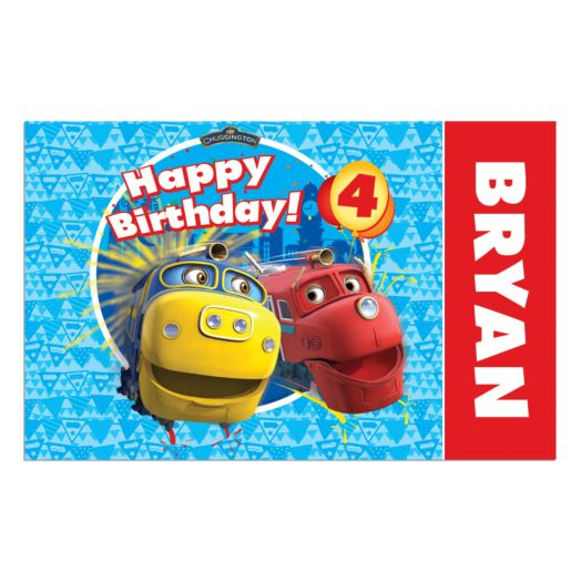 Chuggington Brewster and Wilson Birthday Placemat