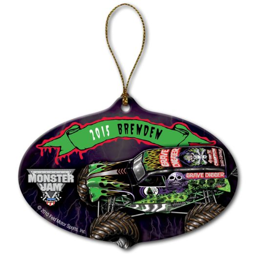 Monster Jam Grave Digger Ornament