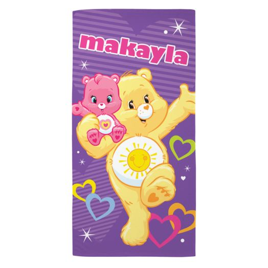 Care Bears Funshine and Wonderheart Bear Beach Towel
