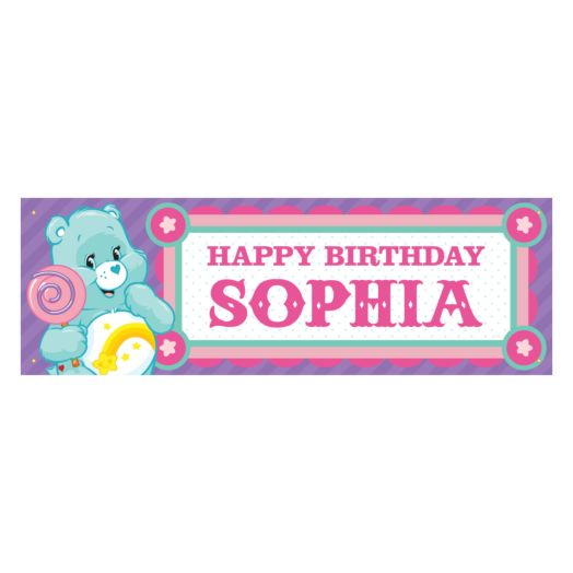 Care Bears Make a Wish Birthday Banner