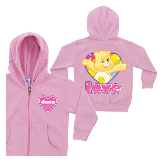 Care Bears Funshine Bear Pink Toddler Zip-Up Hoodie