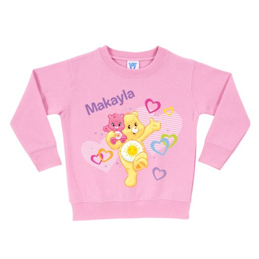 Care Bears Funshine and Wonderheart Pink Pullover Sweatshirt