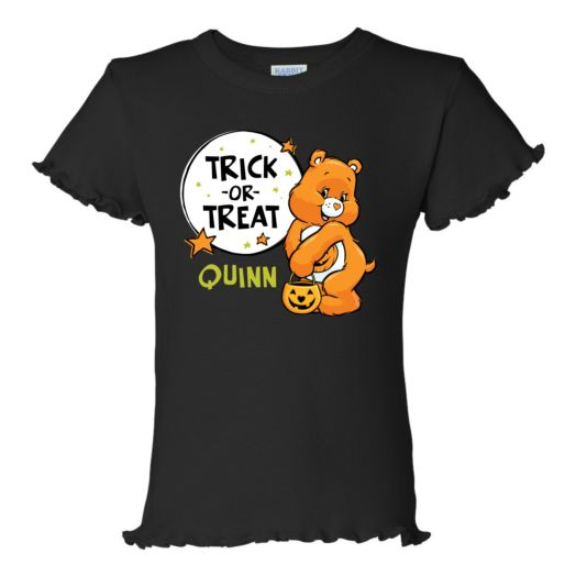 Care Bears Trick-or-Sweet Bear Black Ruffle Tee