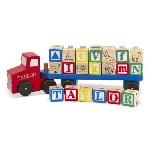 Melissa & Doug Personalized Alphabet Truck
