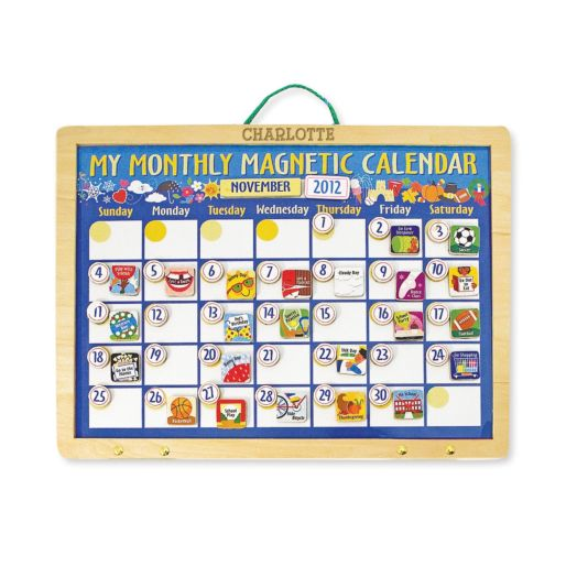 Melissa & Doug Personalized Monthly Magnetic Calendar