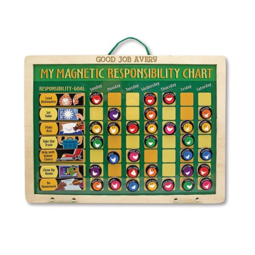 Melissa & Doug Personalized Magnetic Responsibility Chart