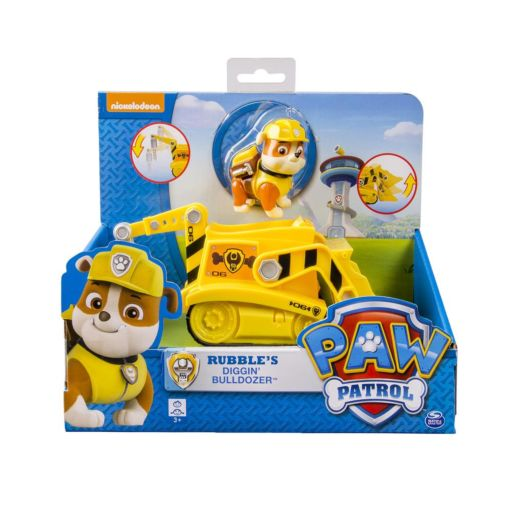 Nickelodeon PAW Patrol Construction Vehicle with Rubble Figurine