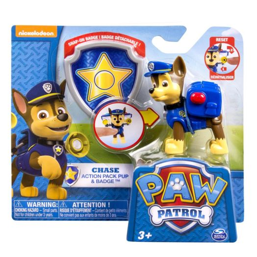 Nickelodeon PAW Patrol Action Pack Pup & Badge - Chase