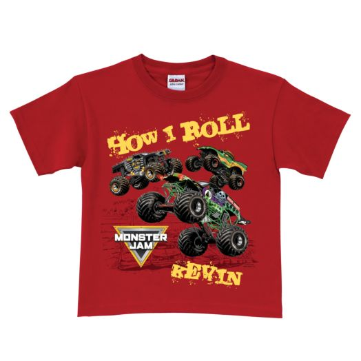 Monster Jam How I Roll Red T-shirt