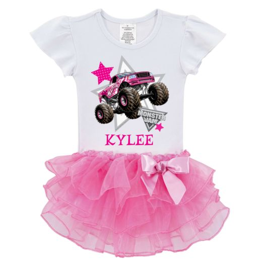 Monster Jam Look Out Boys Madusa Pink Tutu Shirt