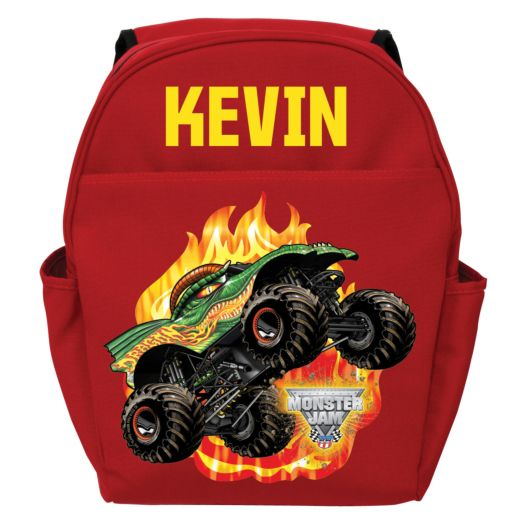 Monster Jam Dragon Red Toddler Backpack