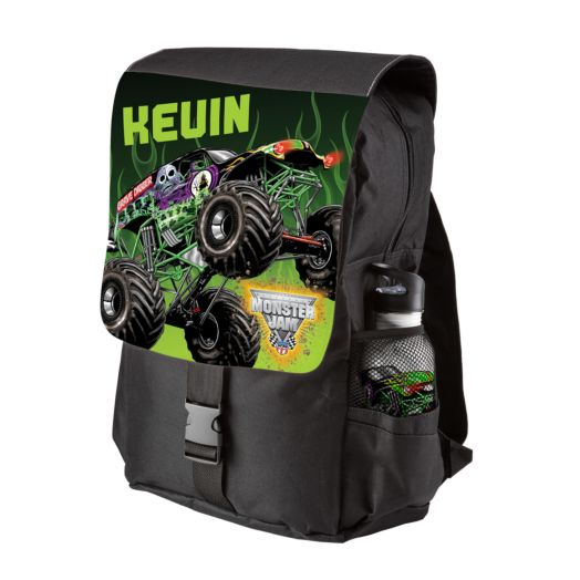 Monster Jam Grave Digger Black Youth Backpack