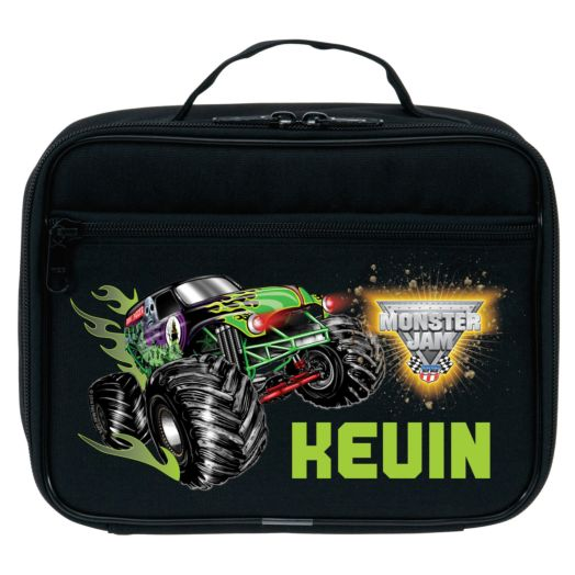 Monster Jam Grave Digger Black Lunch Bag