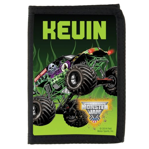 Monster Jam Grave Digger Black Wallet