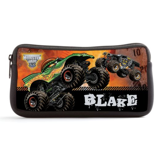 Monster Jam Revved Up Black Pencil Case