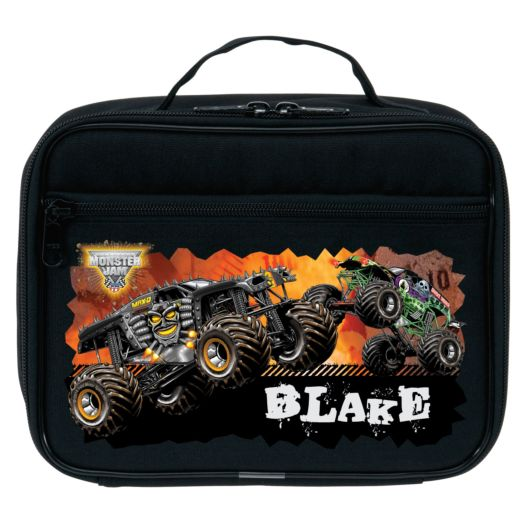 Monster Jam Revved Up Black Lunch Bag