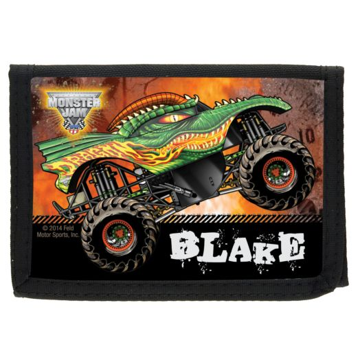 Monster Jam Dragon Black Wallet
