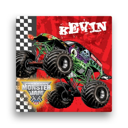 Monster Jam Grave Digger 12 x 12 Canvas Wall Art