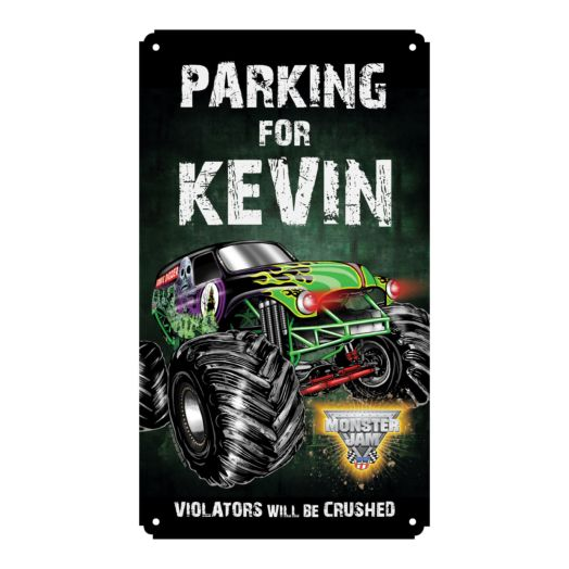 Monster Jam Violators Will Be Crushed Tin Room Sign