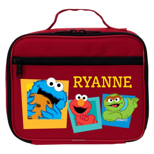Sesame Street Elmo and Friends Red Lunch Bag