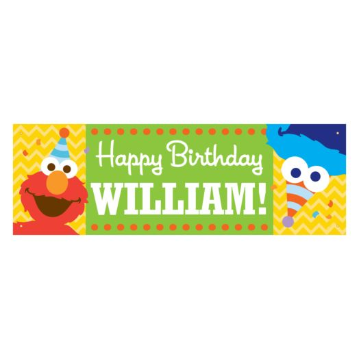 Sesame Street Elmo and Cookie Monster Birthday Banner