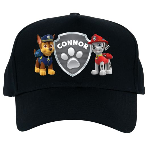 Paw Patrol Badge of Honor Black Baseball Hat
