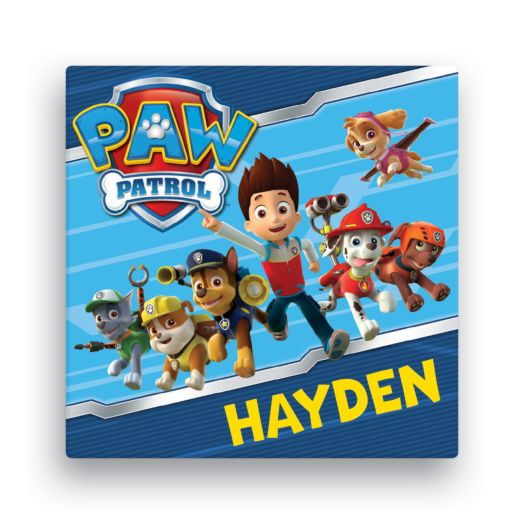 PAW Patrol Let's Roll 16x16 Canvas Wall Art