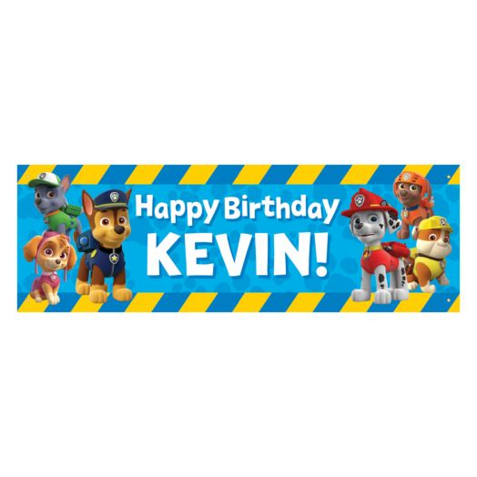 PAW Patrol Pawesome Birthday Banner