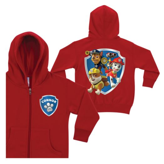 PAW Patrol To the Rescue Red Zip-Up Hoodie